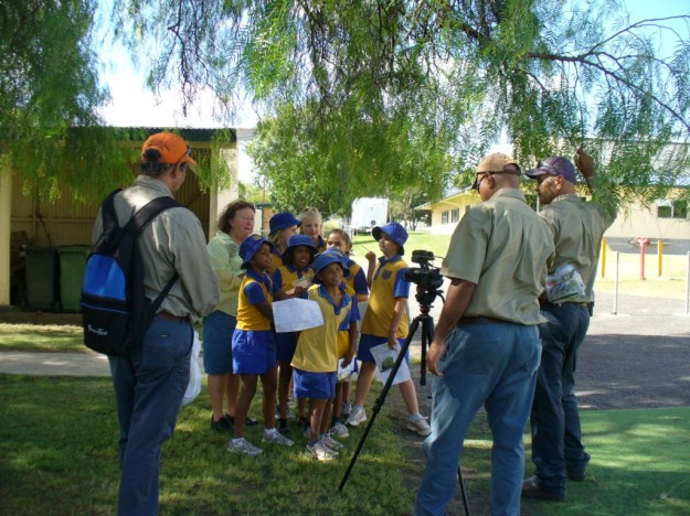 Kids on camera at Murgon State School