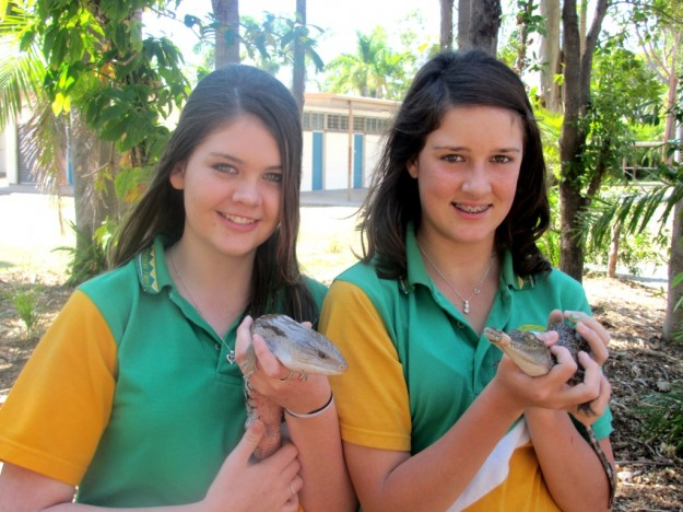 Left to Right: Anastasia Morrison and Tayla Gilchrist from Thuringowa State High School