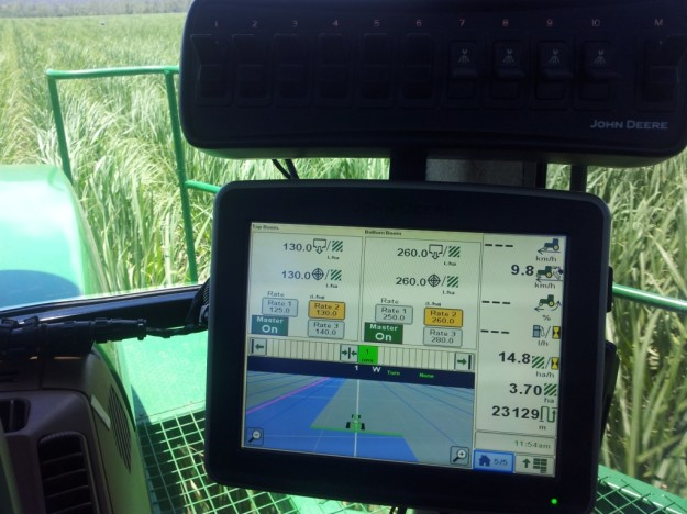 Peter Vecchio finds the new over-row sprayer a joy to work with, and the on board GPS is a boon for efficiency and on-farm record keeping.