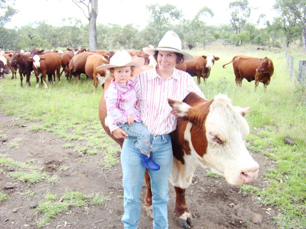 Emily and Adele O'Connor on their Springsure property