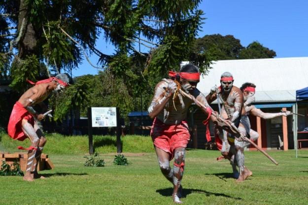 The Wakka Wakka Dancers perform at the opening ceremony of the Bunya Mountains Murri Ranger Community Day