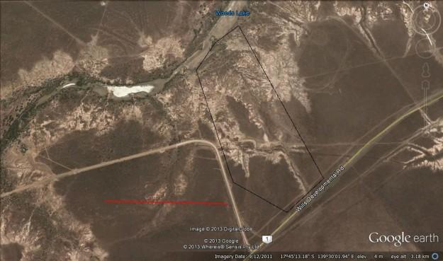 Google Earth image of Priority Site 1 road culvert
