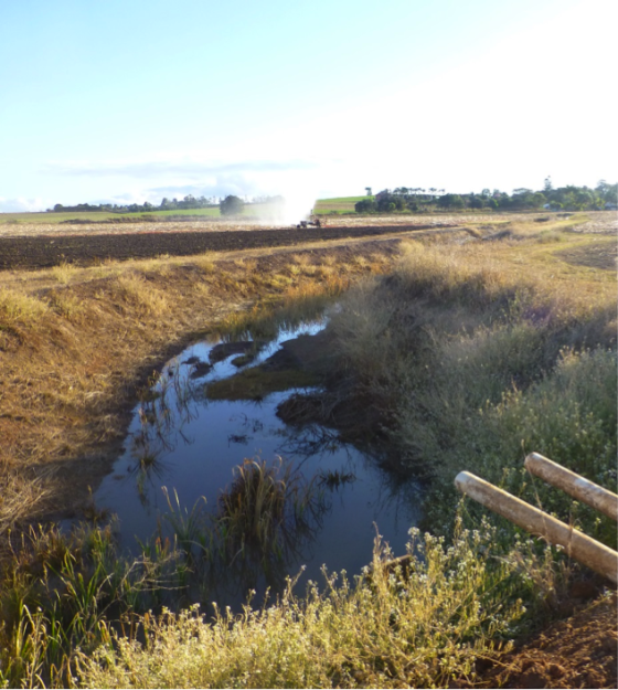 Pond series providing treatment and reuse of runoff water